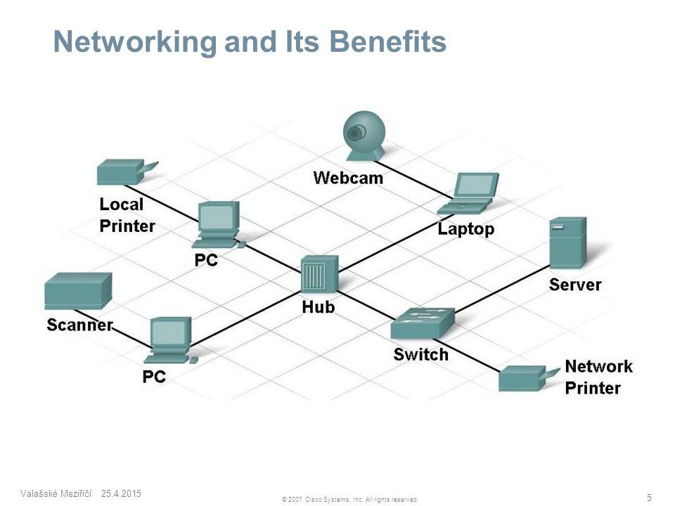 Valašské Meziříčí 25.4.2015 5 © 2007 Cisco Systems, Inc. All rights reserved. Networking and Its Benefits  Components of an Information network