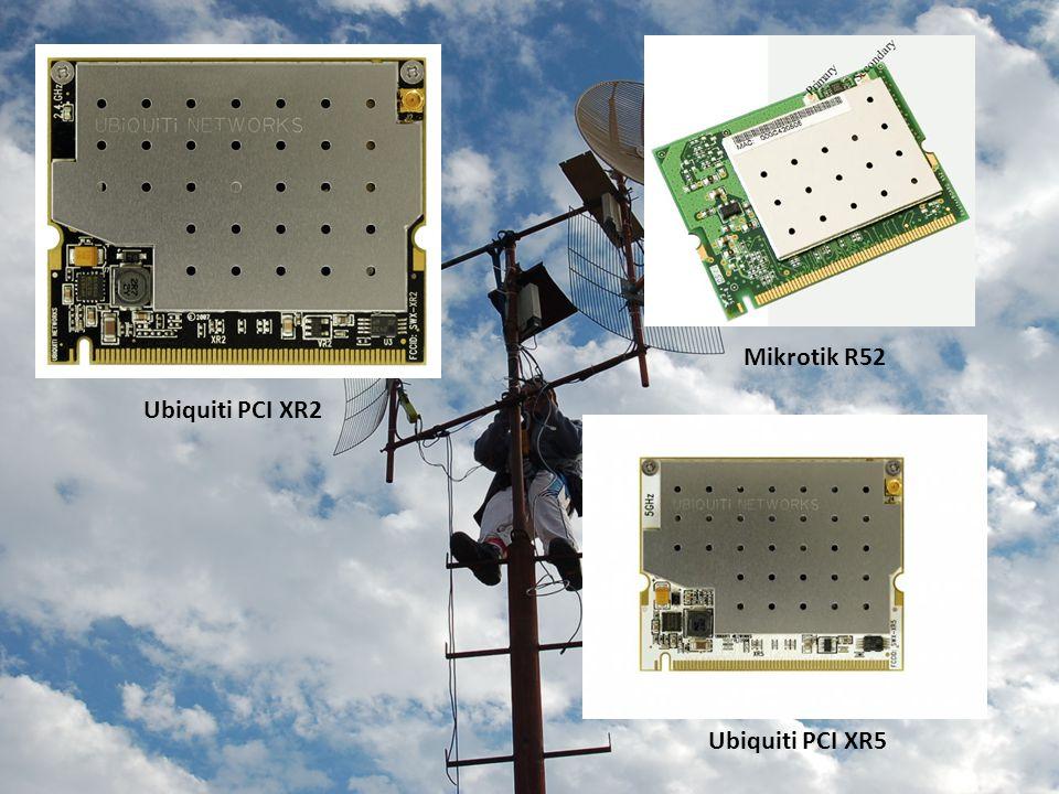 Ubiquiti PCI XR2 Mikrotik R52 Ubiquiti PCI XR5