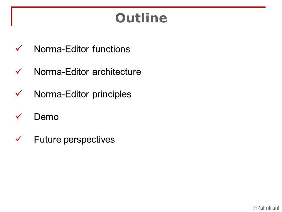 ©Palmirani Qualification of normative references modification citation Modification of the textual part explicit implicit static dinamic Modification of the norm range Modification of the time explicit implicit Normative reference