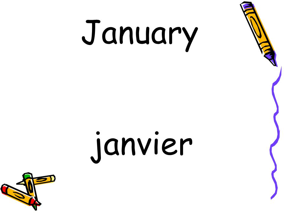 janvier January