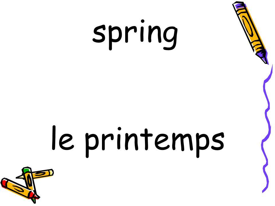 le printemps spring