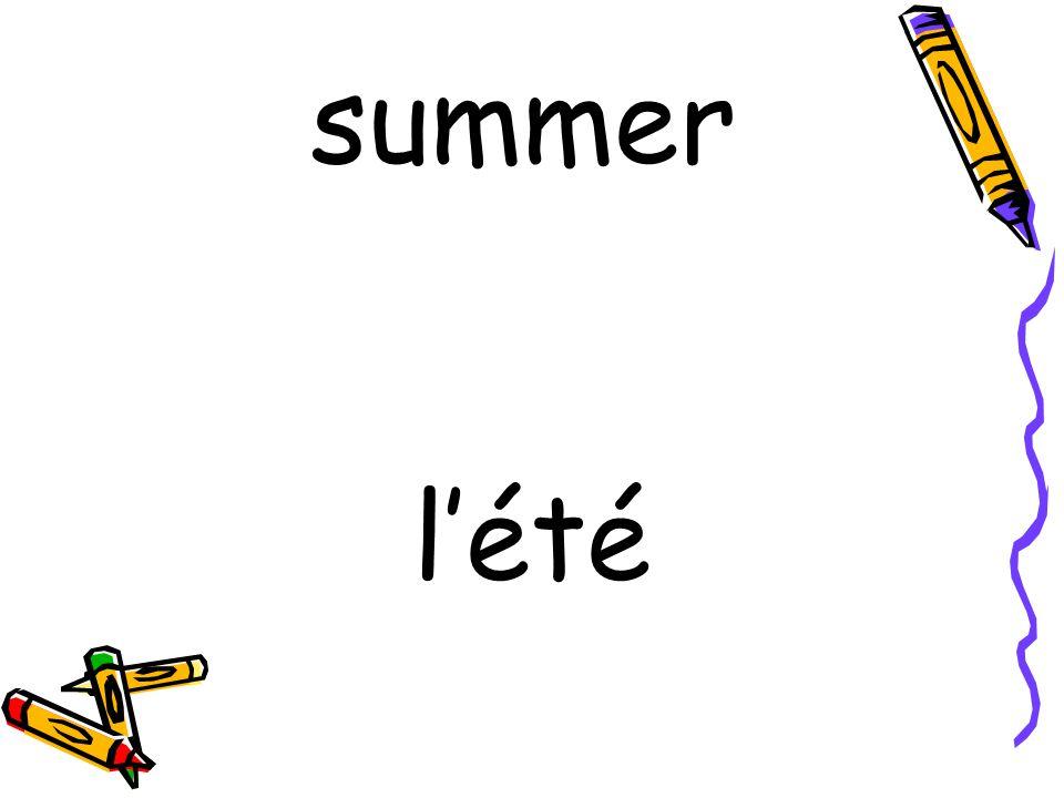 l'été summer