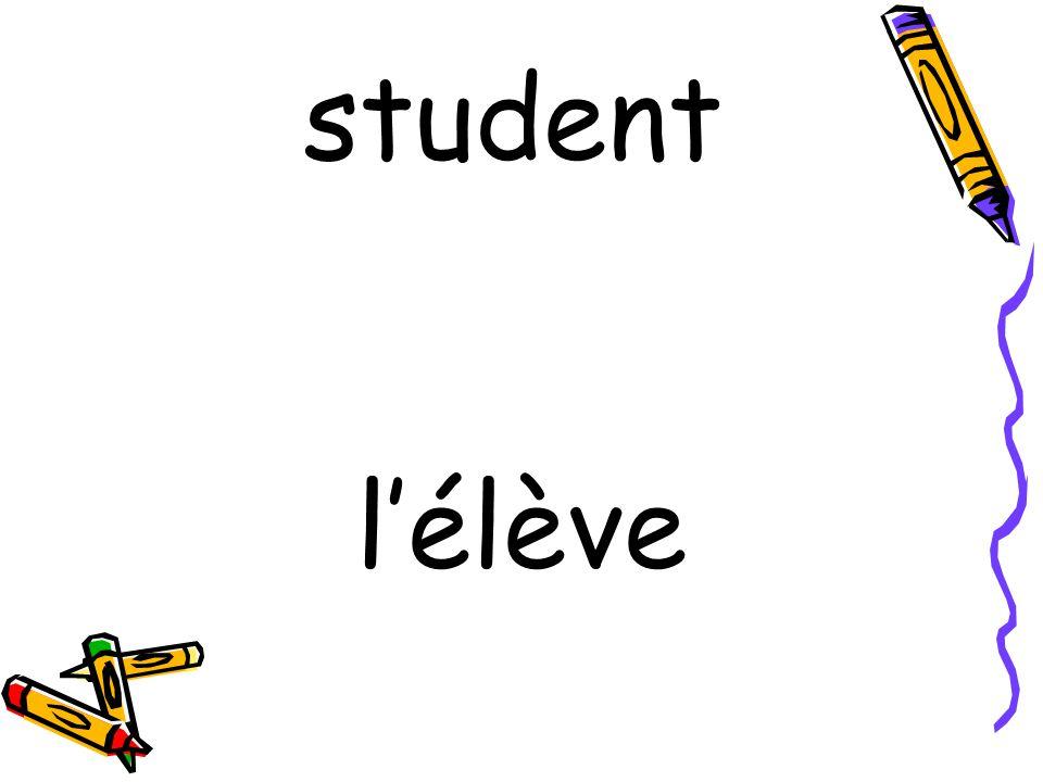 l'élève student