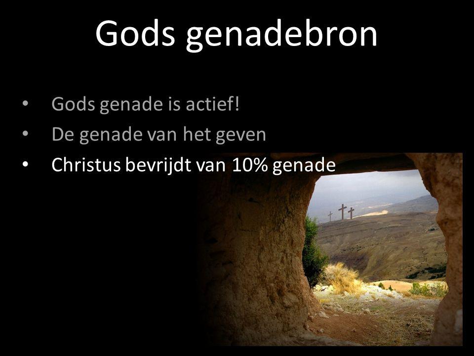 Gods genade is actief! De genade van het geven Christus bevrijdt van 10% genade Gods genadebron