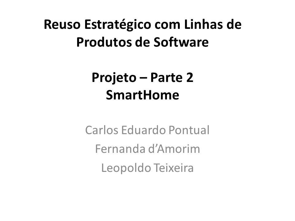 Reuso Estratégico com Linhas de Produtos de Software Projeto – Parte 2 SmartHome Carlos Eduardo Pontual Fernanda d'Amorim Leopoldo Teixeira