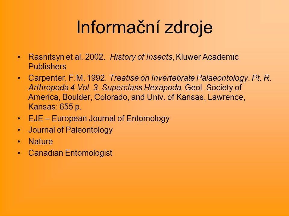 Informační zdroje Rasnitsyn et al. 2002.