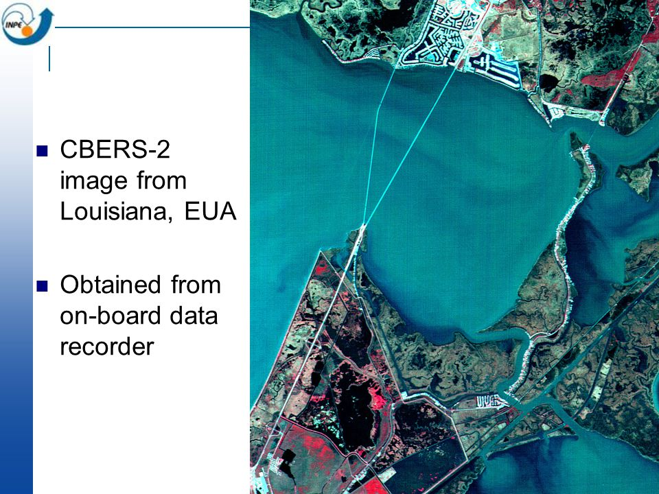 CBERS-2 image from Louisiana, EUA Obtained from on-board data recorder