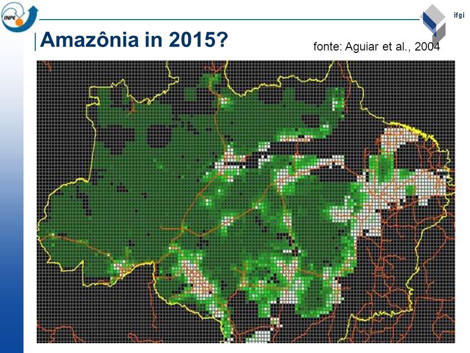 Amazônia in 2015 fonte: Aguiar et al., 2004