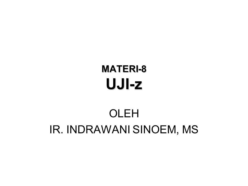 MATERI-8 UJI-z OLEH IR. INDRAWANI SINOEM, MS