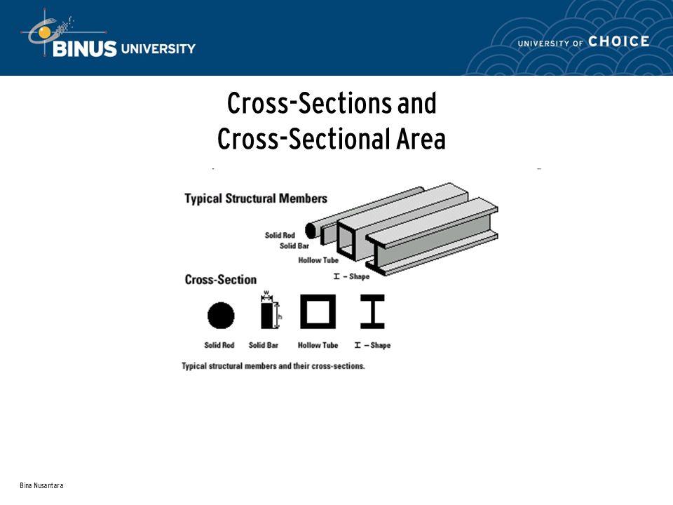 Bina Nusantara Cross-Sections and Cross-Sectional Area