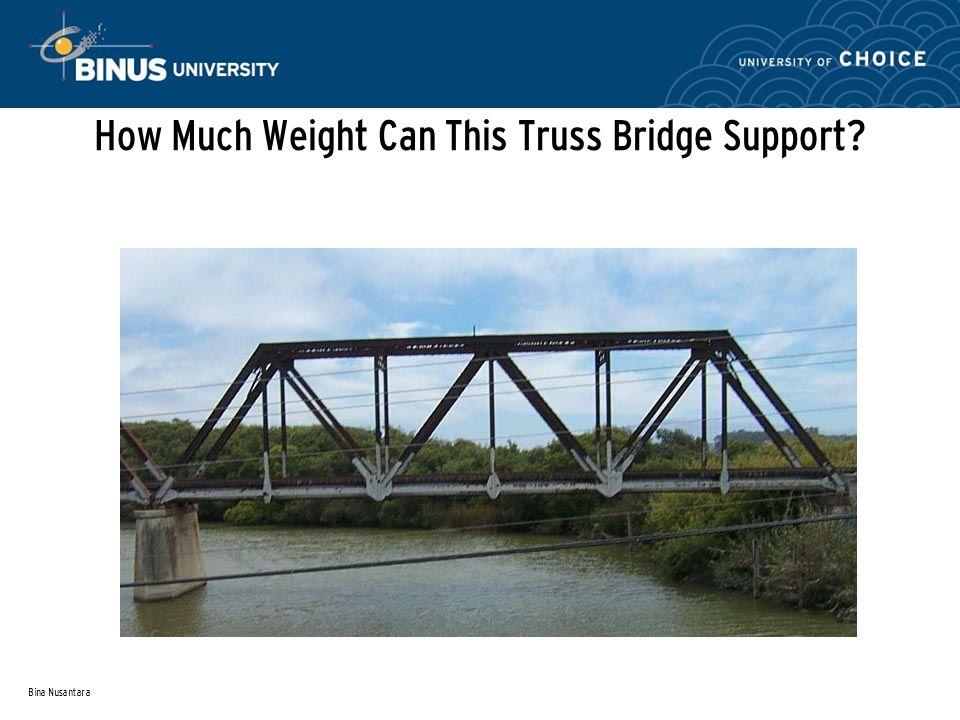 Bina Nusantara How Much Weight Can This Truss Bridge Support