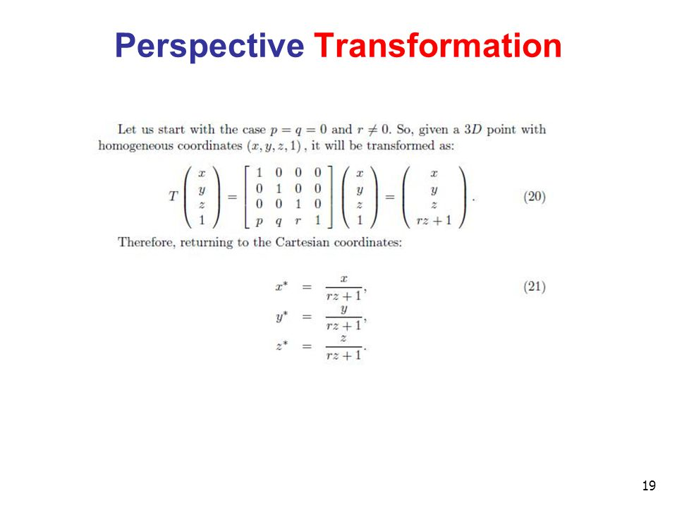 19 Perspective Transformation