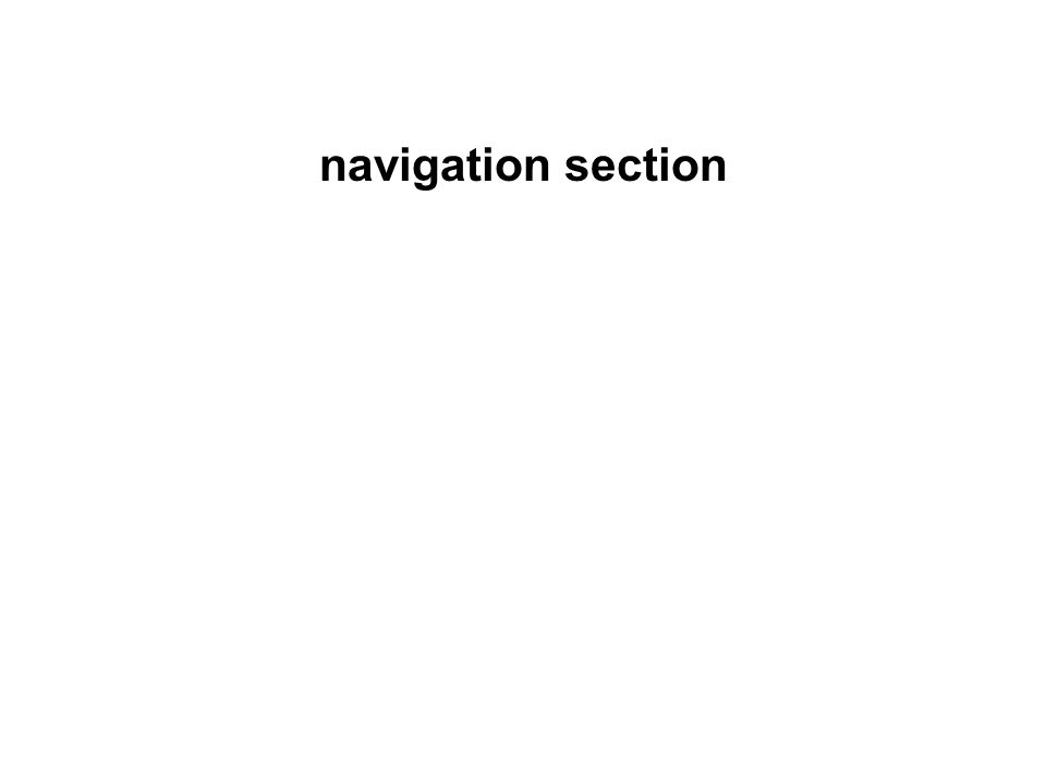 navigation section