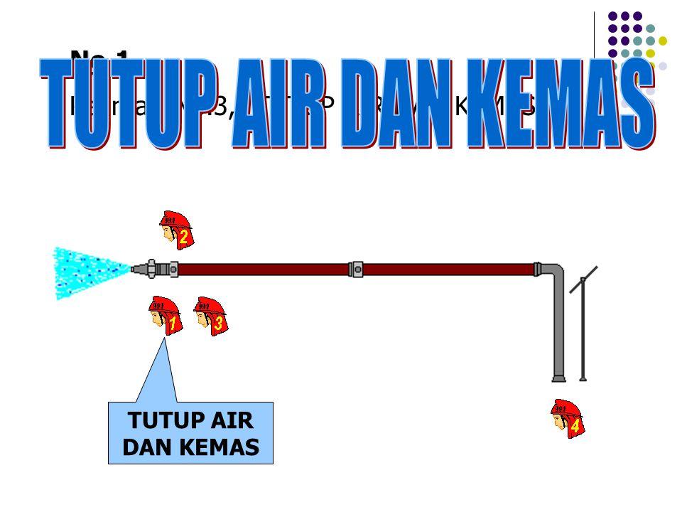 No.1 Perintah No.3, TUTUP AIR DAN KEMAS TUTUP AIR DAN KEMAS