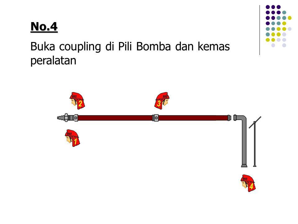 No.4 Buka coupling di Pili Bomba dan kemas peralatan