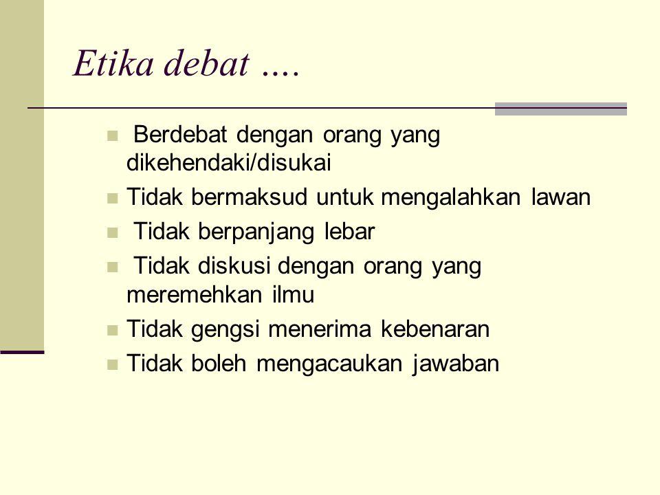 Etika debat ….
