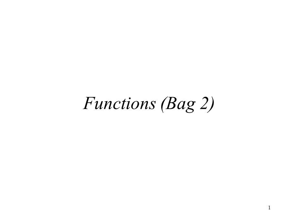 1 Functions (Bag 2)