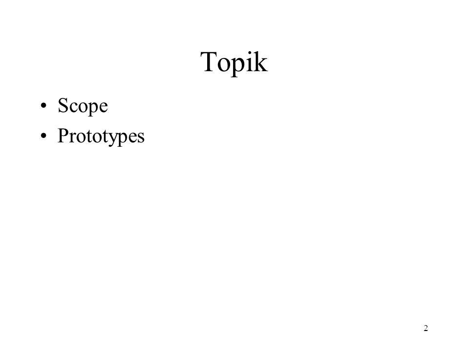 2 Topik Scope Prototypes