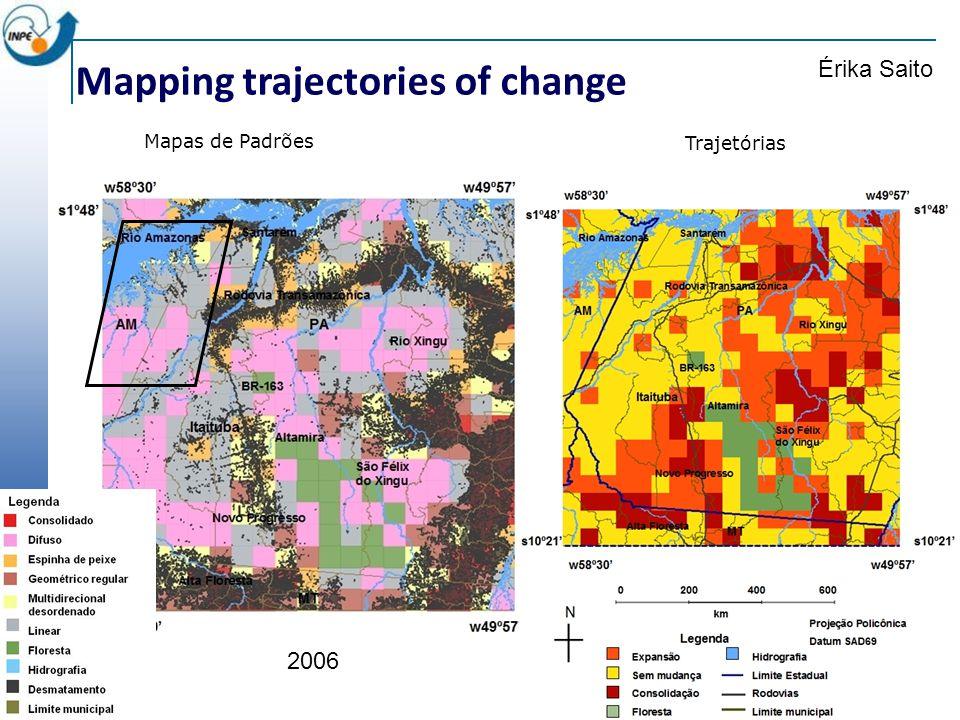 Mapping trajectories of change Mapas de Padrões Érika Saito 2006 Trajetórias