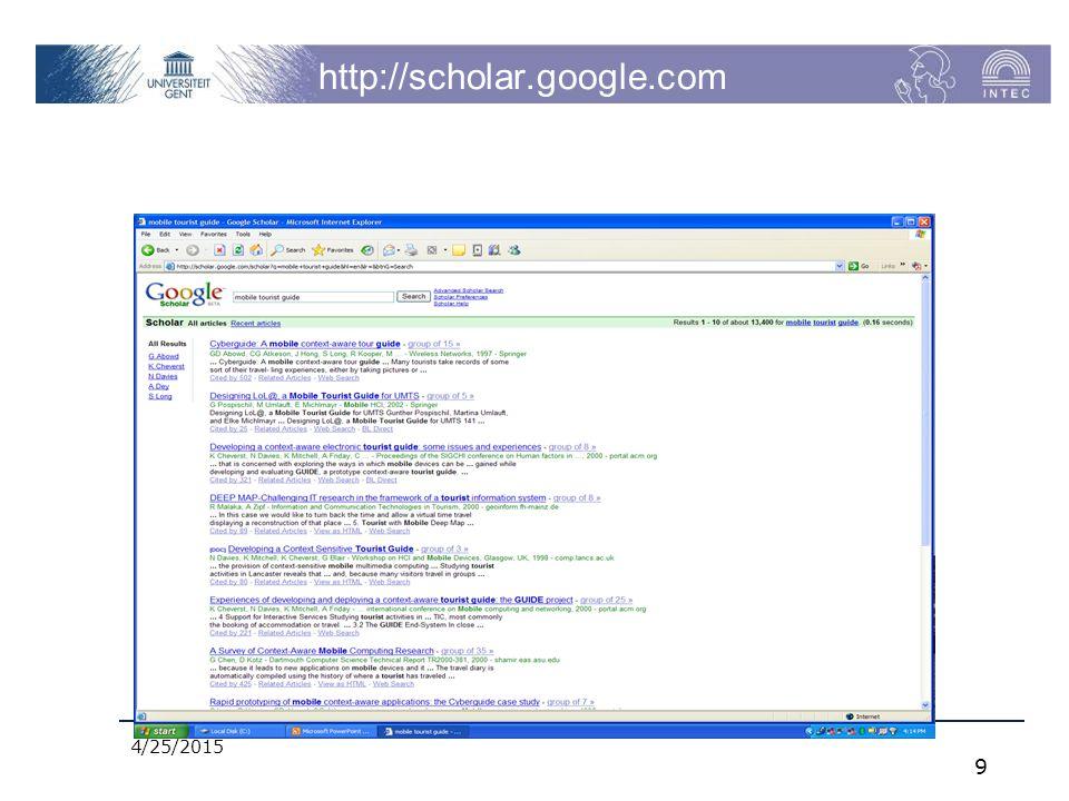 4/25/2015 9 http://scholar.google.com