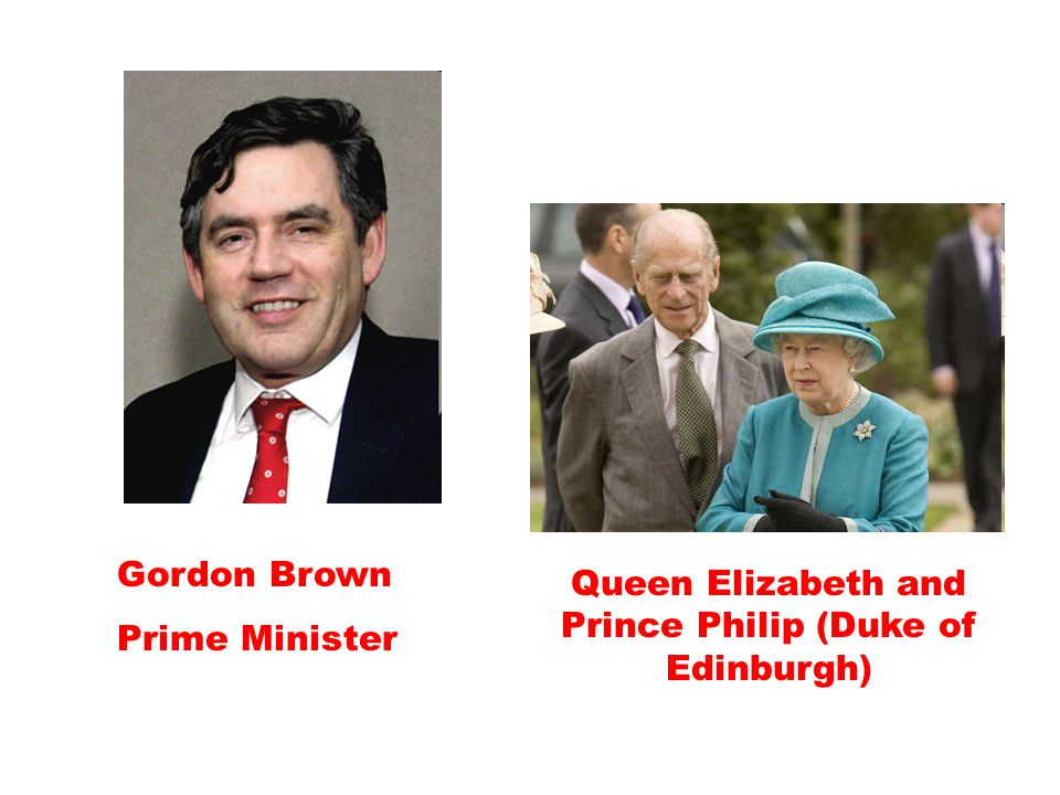 Gordon Brown Prime Minister Queen Elizabeth and Prince Philip (Duke of Edinburgh)