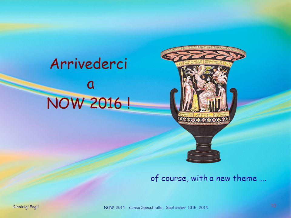 Gianluigi Fogli NOW 2014 - Conca Specchiulla, September 13th, 2014 1 10 Arrivederci a NOW 2016 .