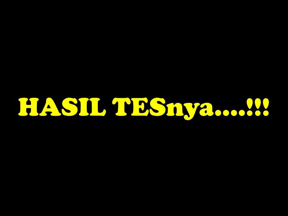 HASIL TESnya….!!!