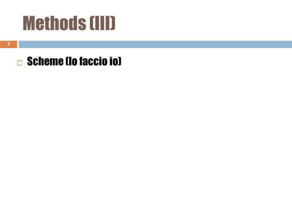 Methods (III) 7  Scheme (lo faccio io)
