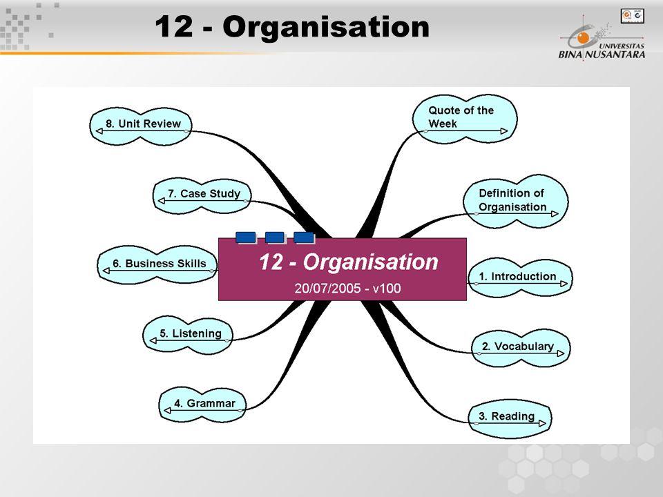12 - Organisation
