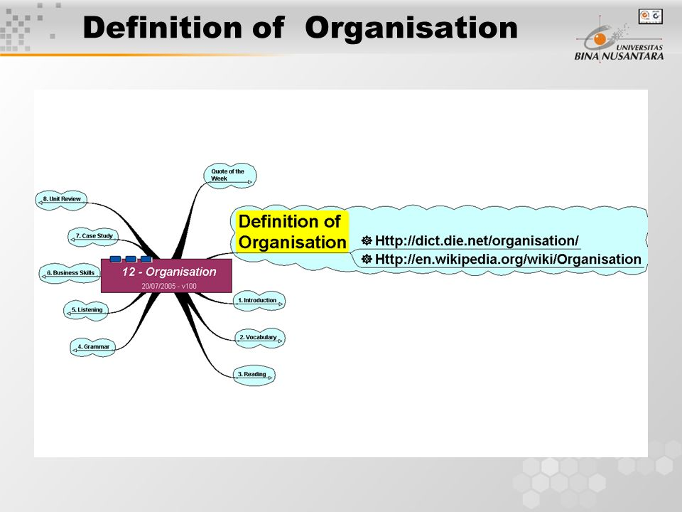 Definition of Organisation