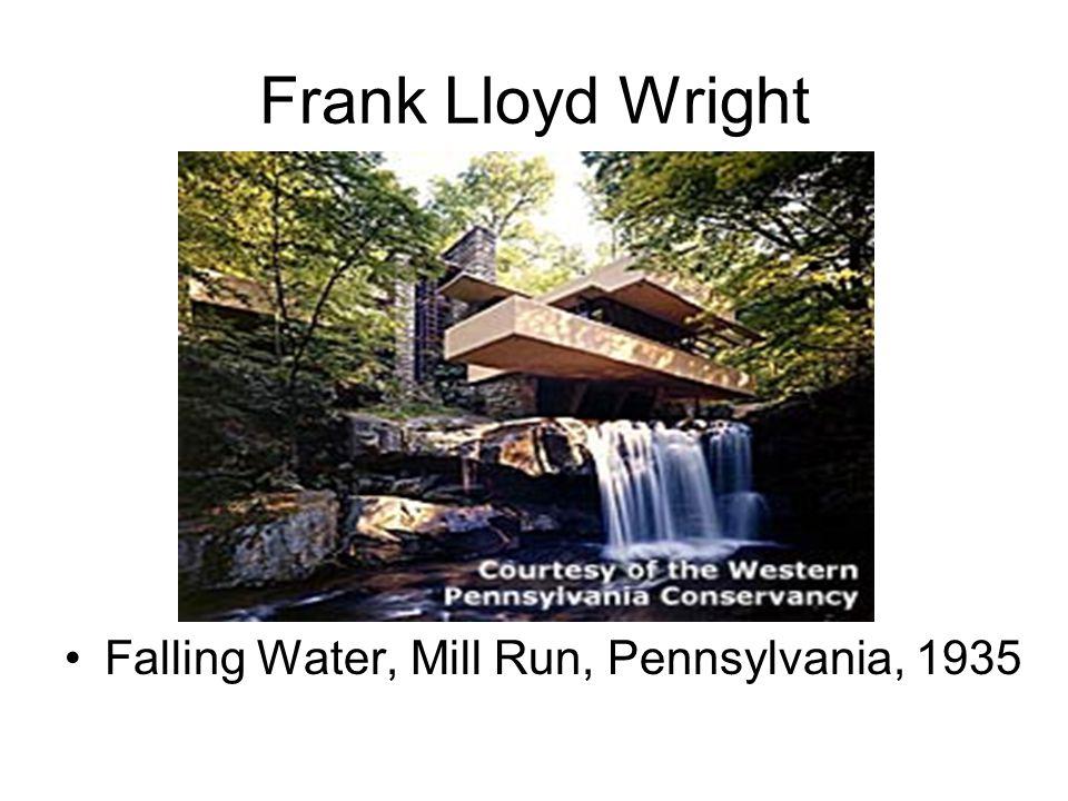 Frank Lloyd Wright Falling Water, Mill Run, Pennsylvania, 1935