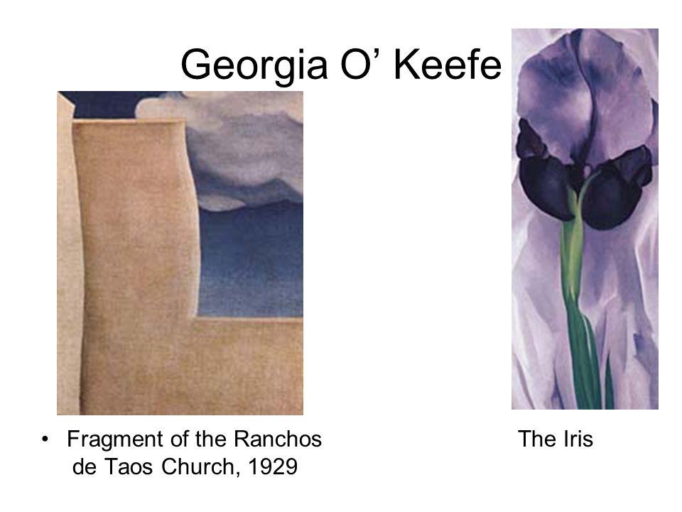 Georgia O' Keefe Fragment of the Ranchos The Iris de Taos Church, 1929