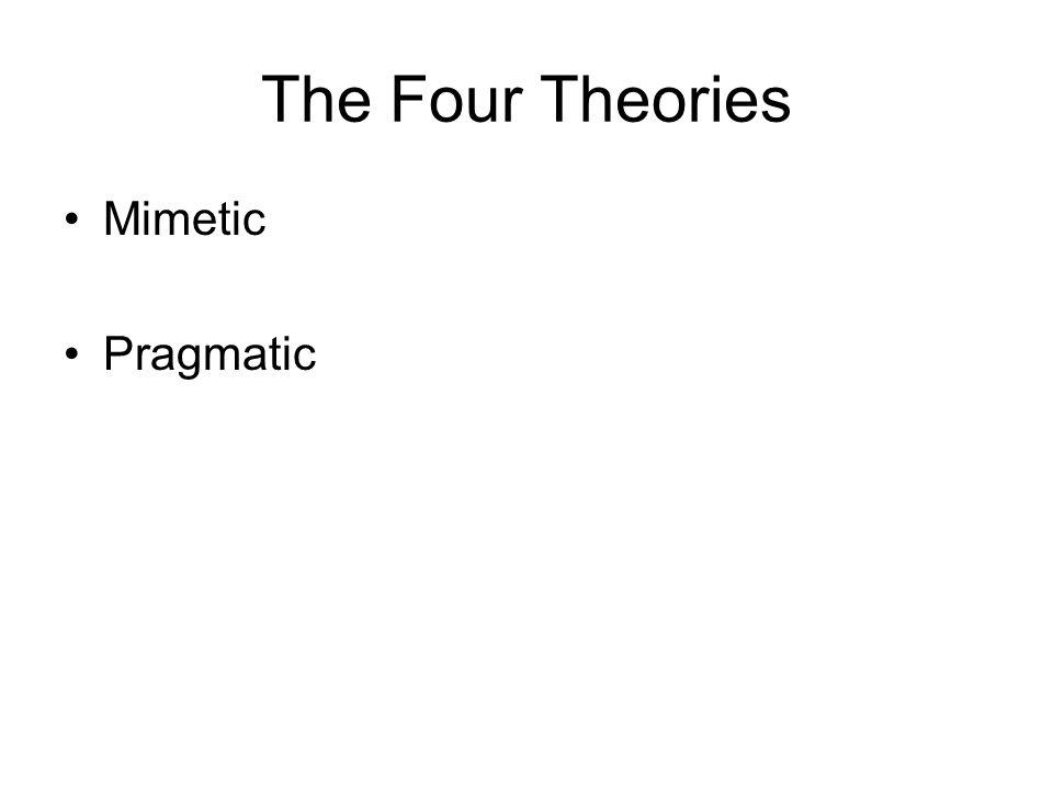 The Four Theories Mimetic Pragmatic