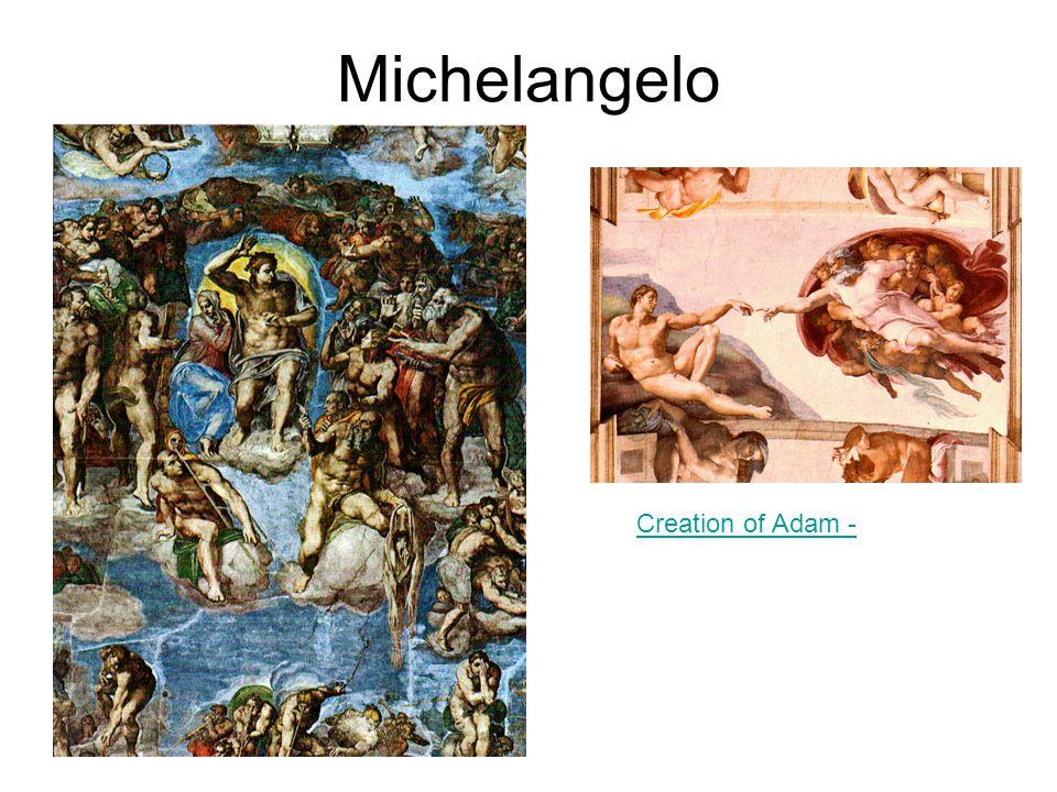 Michelangelo Creation of Adam -