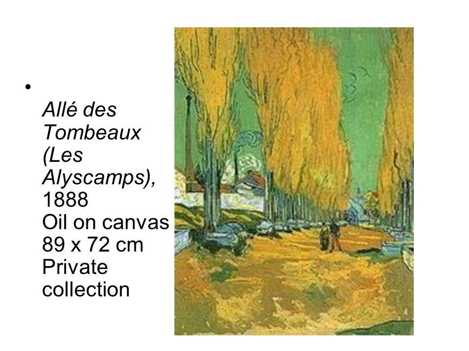 Allé des Tombeaux (Les Alyscamps), 1888 Oil on canvas 89 x 72 cm Private collection
