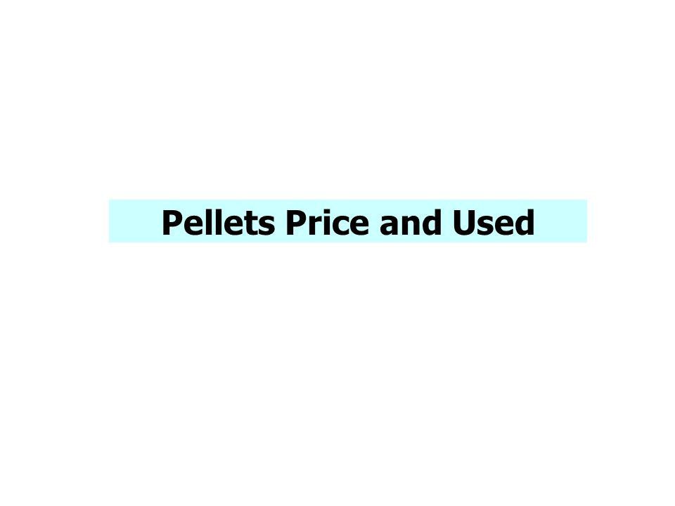 Pellets Price and Used