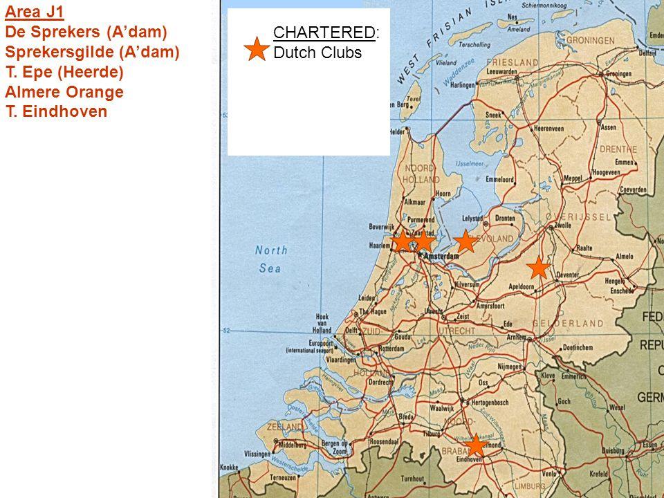 CHARTERED: Dutch Clubs Area J1 De Sprekers (A'dam) Sprekersgilde (A'dam) T.