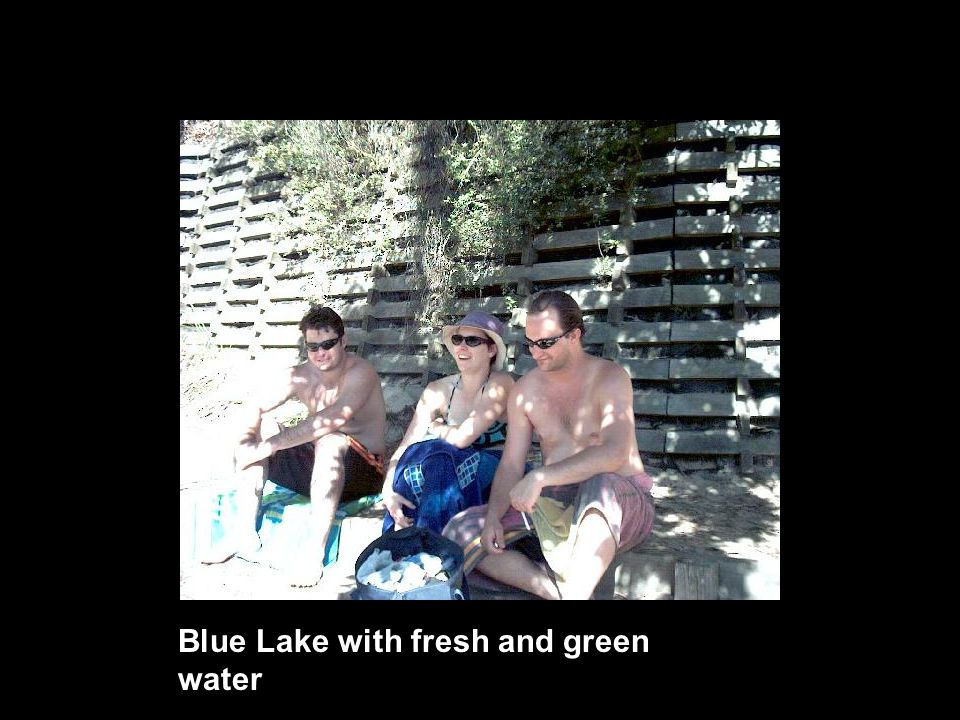 Blue Lake with fresh and green water