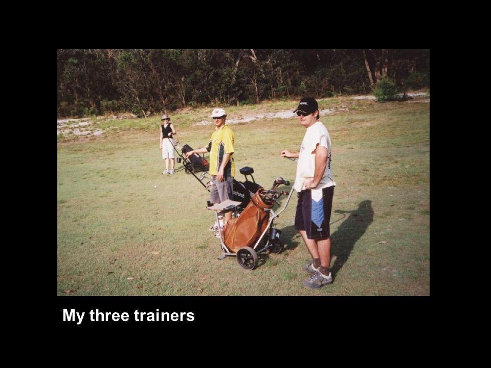 My three trainers