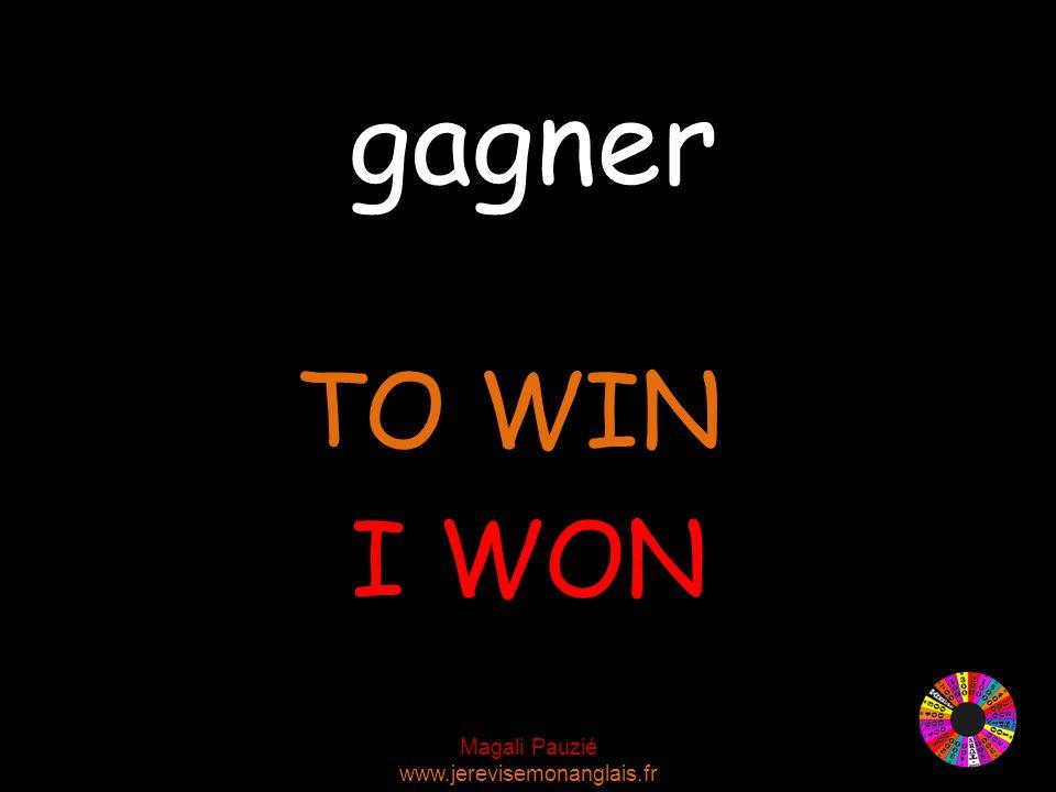 Magali Pauzié www.jerevisemonanglais.fr gagner TO WIN I WON