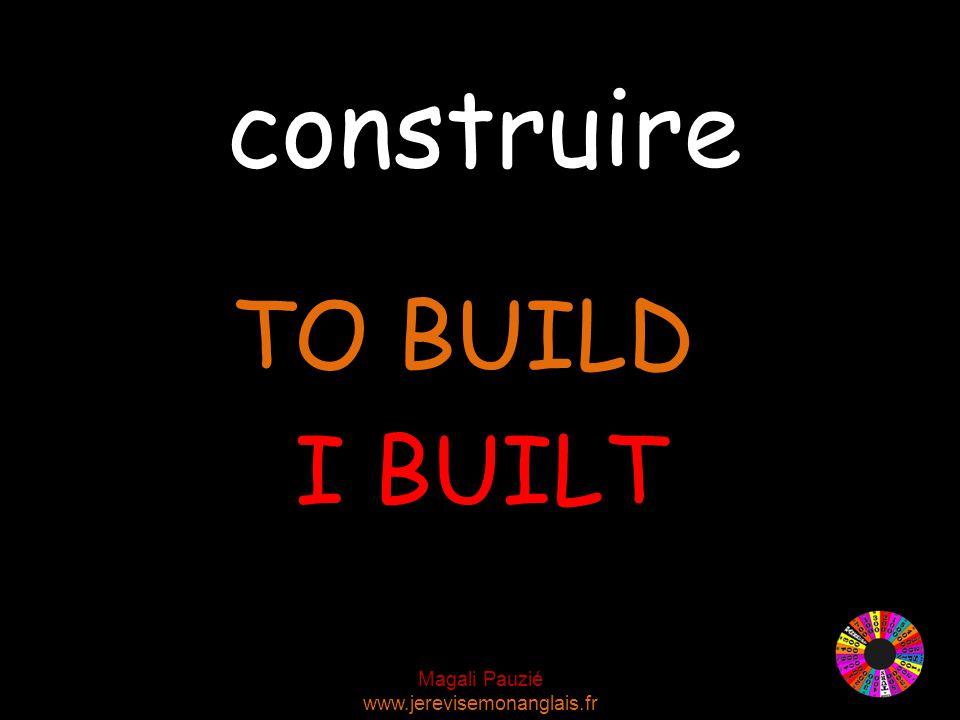 Magali Pauzié www.jerevisemonanglais.fr construire TO BUILD I BUILT