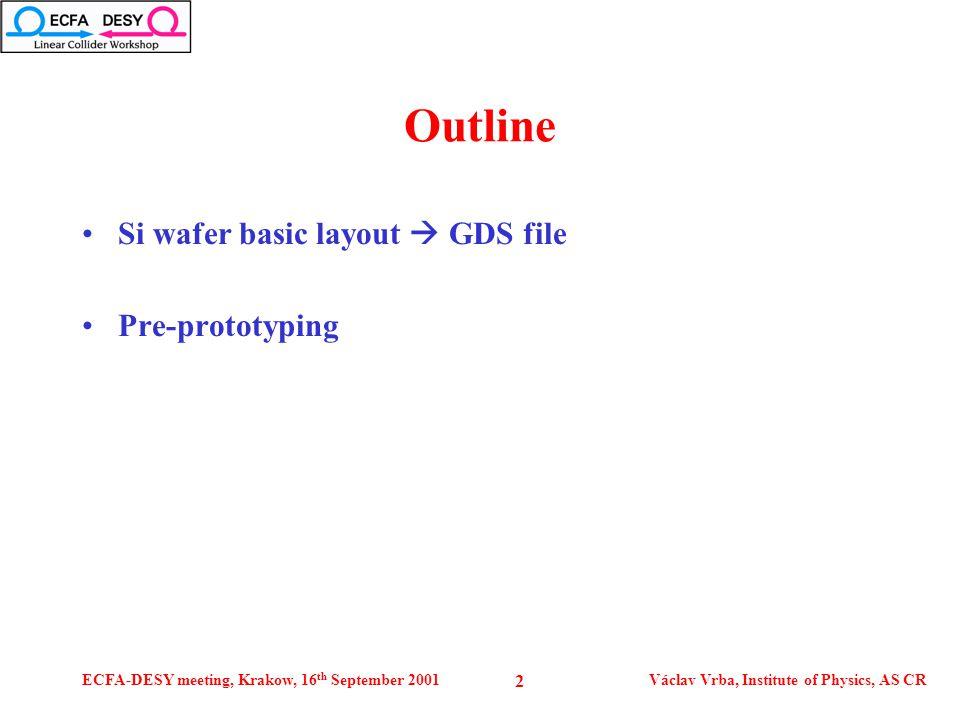 ECFA-DESY meeting, Krakow, 16 th September 2001Václav Vrba, Institute of Physics, AS CR 3 Si wafer layout 0.5 mm
