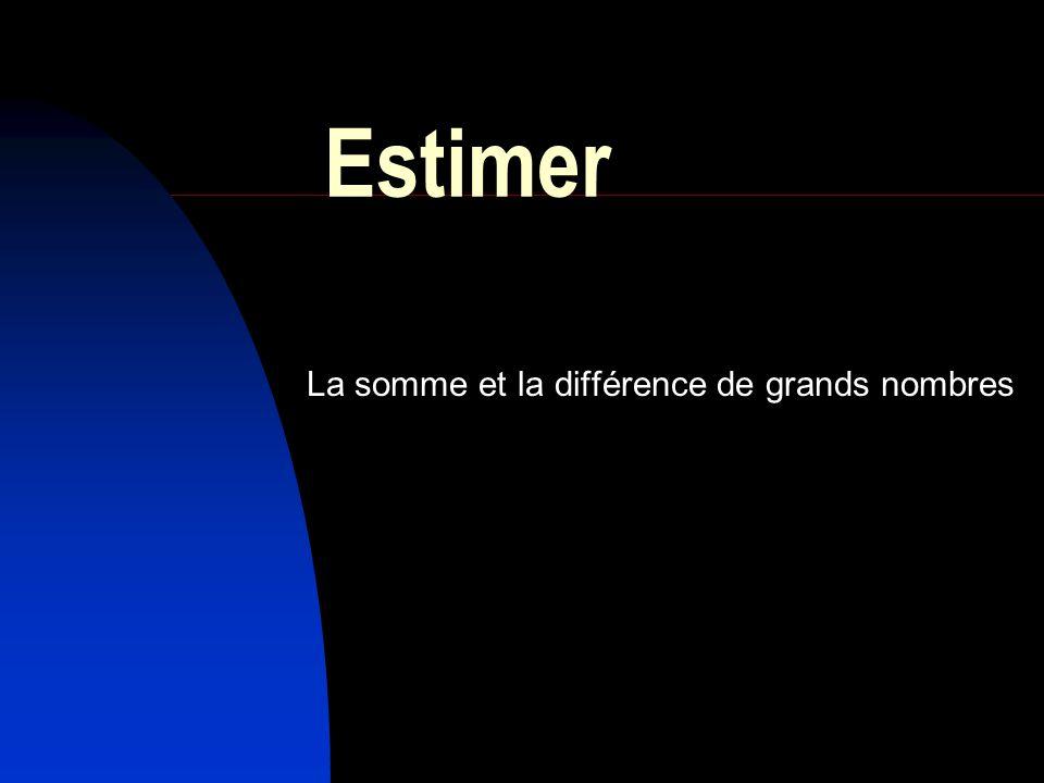 Estimer La somme et la différence de grands nombres
