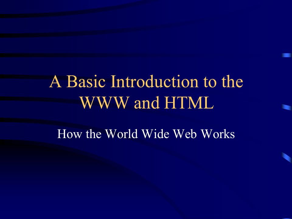 Elements of HTML Tags for document definition: title, head, body, etc.