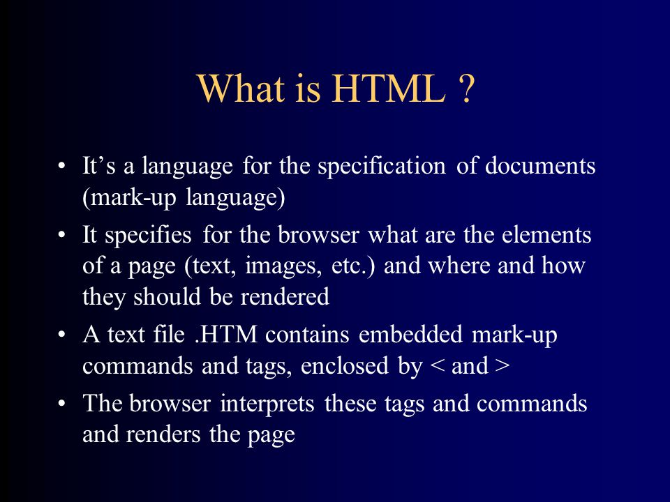 What is HTML .