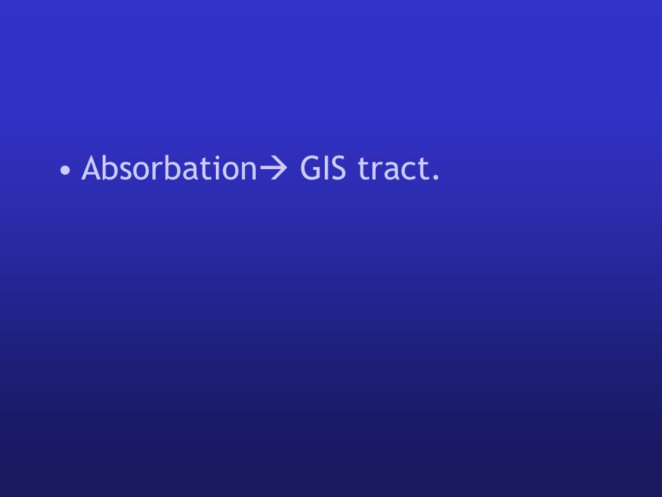 Absorbation  GIS tract.