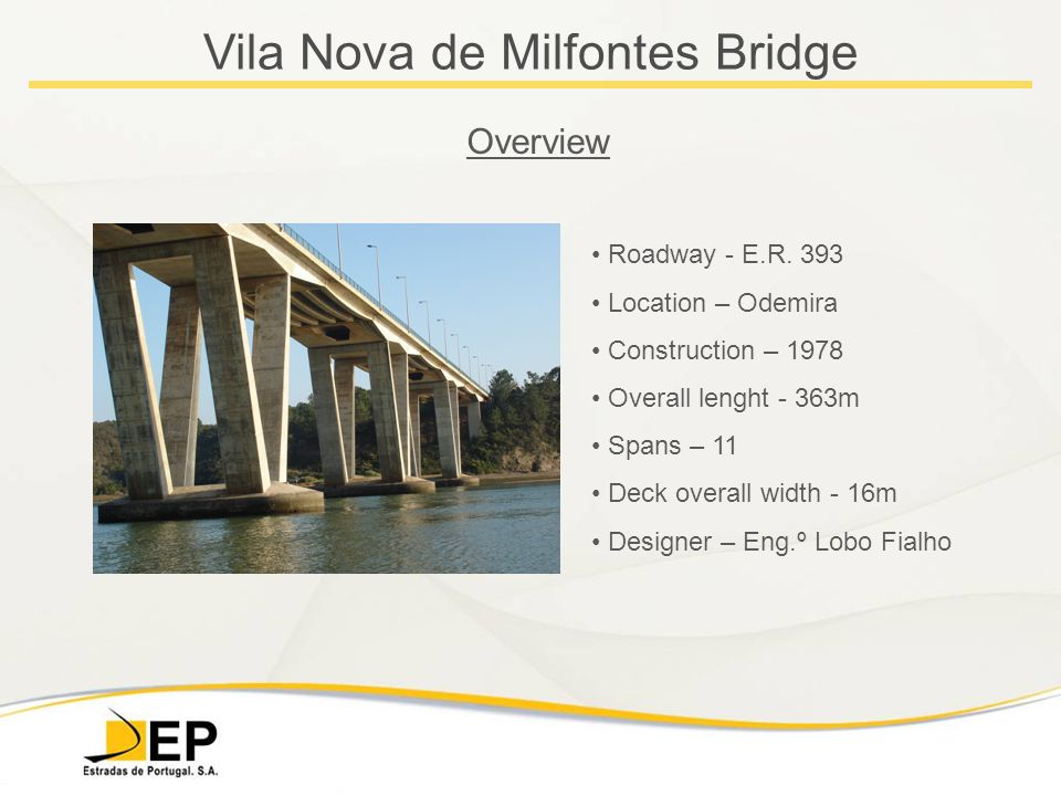 Vila Nova de Milfontes Bridge Overview Roadway - E.R.