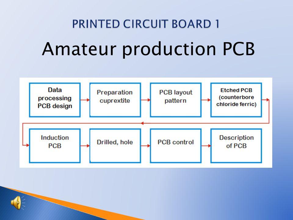 Amateur production PCB
