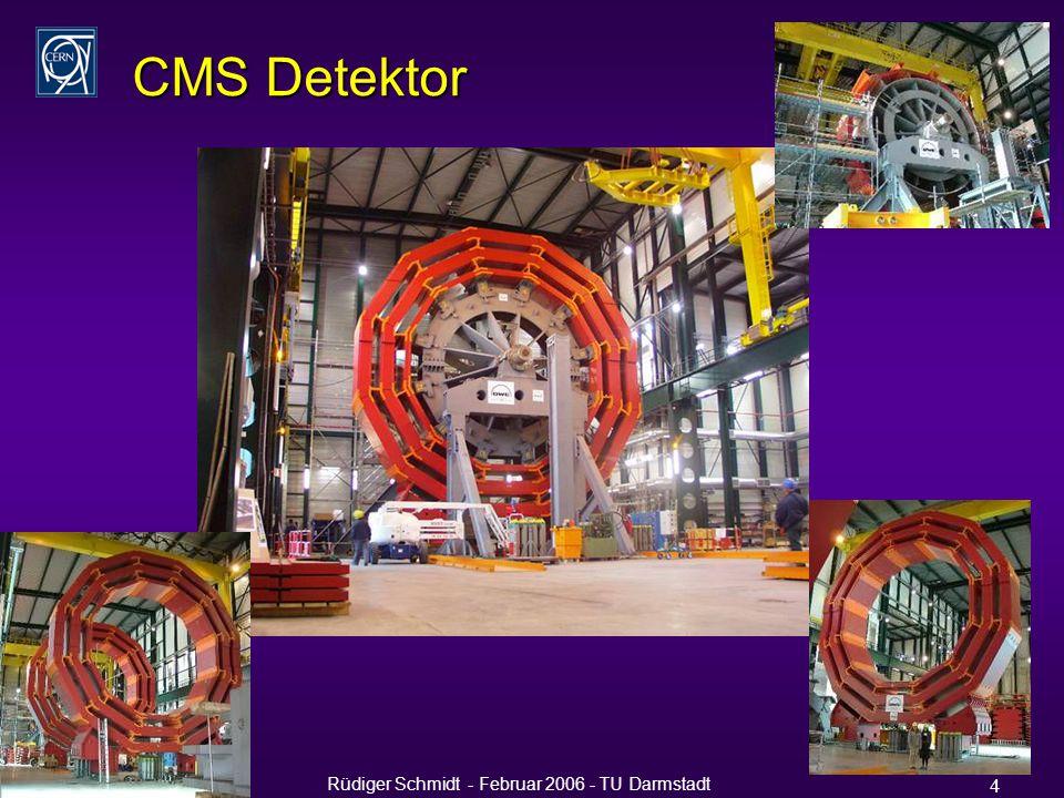 Rüdiger Schmidt - Februar 2006 - TU Darmstadt 4 CMS Detektor