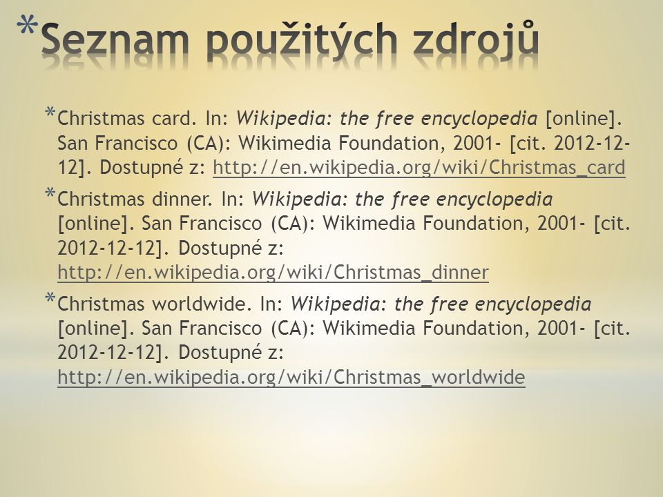 * Christmas card. In: Wikipedia: the free encyclopedia [online].